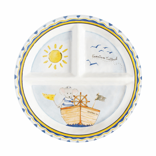 Adventure Awaits Sectioned Plate by Baby Cie