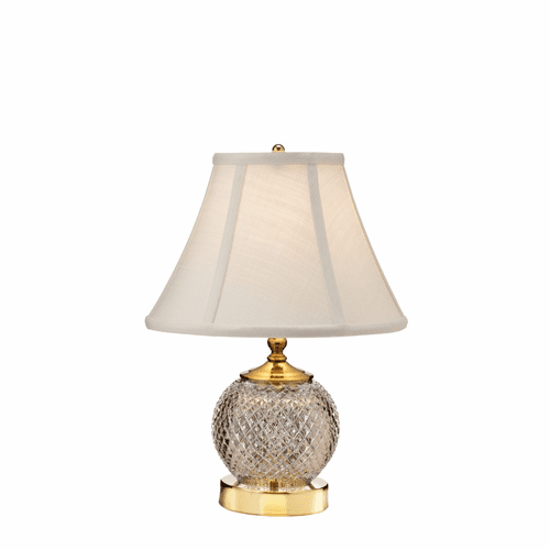 """Alana Polished Brass 15.5"""" Mini Accent Lamp by Waterford"""