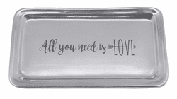 """All You Need Is Love"" Signature Statement Tray by Mariposa"
