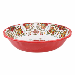 "Allegra Red 10"" Salad Bowl for Two by Le Cadeaux"