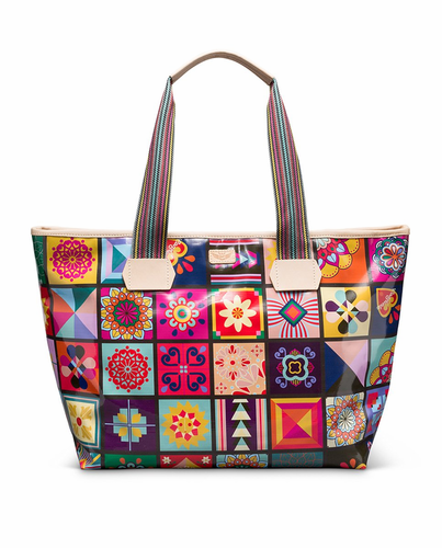 Allie Zipper Tote by Consuela