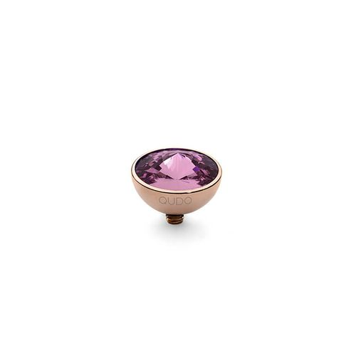 Amethyst 11.5mm Rose Gold Interchangeable Top by Qudo Jewelry