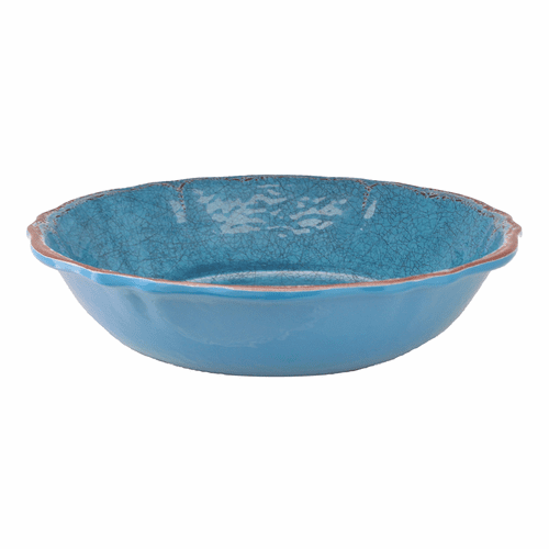"Antiqua Blue 10"" Salad Bowl for Two by Le Cadeaux"