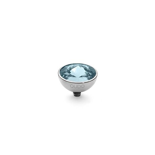 Aquamarine 11.5mm Silver Interchangeable Top by Qudo Jewelry