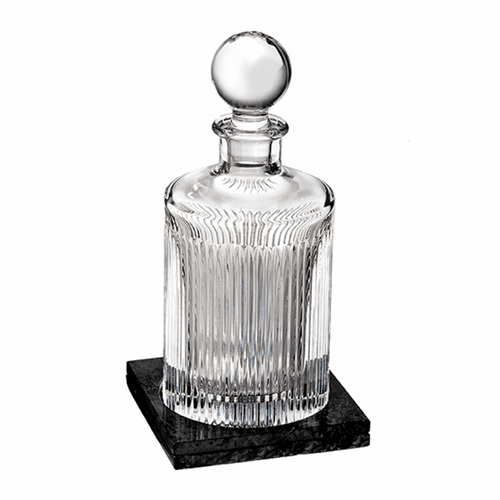 Aras Round Decanter with Marble Coaster by Waterford