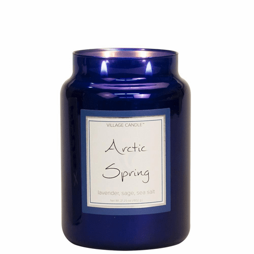 Arctic Spring 26 oz. Metallic Jar by Village Candles
