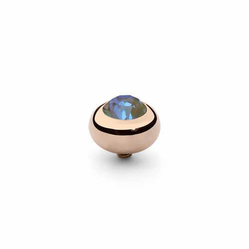 Army Green Delite 10mm Rose Gold Interchangeable Top by Qudo Jewelry