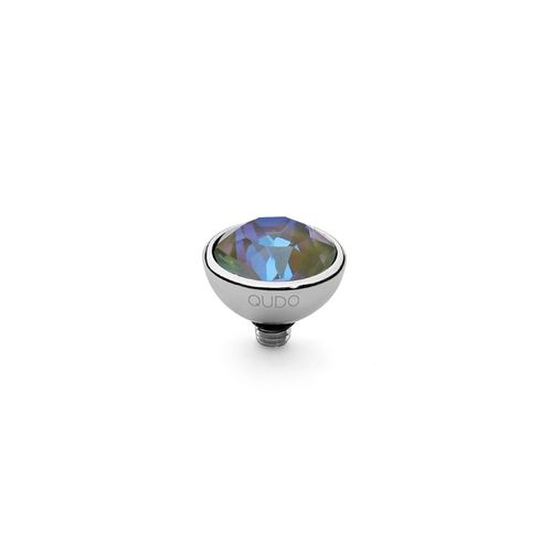 Army Green Delite 10mm Silver Interchangeable Top by Qudo Jewelry