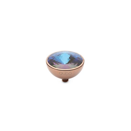 Army Green Delite 13mm Rose Gold Interchangeable Top by Qudo Jewelry