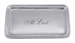 """At Last"" Signature Statement Tray by Mariposa"