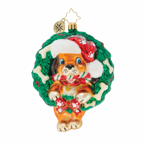 Baby's First Puppy Love Ornament by Christopher Radko