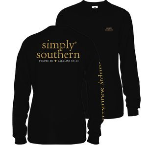 Basic Logo Black Long Sleeve Tee by Simply Southern