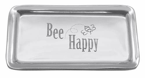 """""""Bee Happy"""" Signature Statement Tray by Mariposa"""