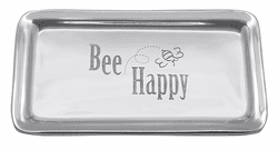 """Bee Happy"" Signature Statement Tray by Mariposa"