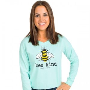 Bee Kind Celedon Shortie Long Sleeve Tee by Simply Southern