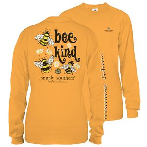 Bee Kind Mustard Long Sleeve Tee by Simply Southern