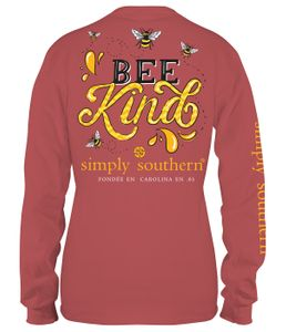 Bee Kind Spice Long Sleeve Tee by Simply Southern