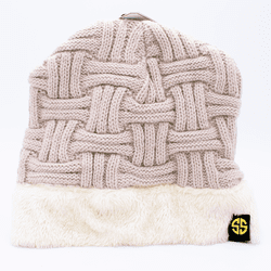 Beige Sherpa Beanie by Simply Southern