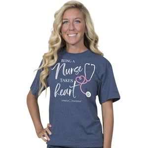 Being A Nurse Denim Simply Faithful Fitted Tee by Simply Southern
