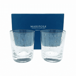 Bellini Double Old Fashion Glasses Set of 2 Gift Box by Mariposa