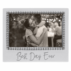 Best Day Ever 4x6 Beaded Frame by Mariposa
