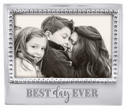 """""""Best Day Ever"""" Beaded 4x6 Frame by Mariposa"""