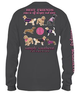 Best Friends in all Sizes Iron Long Sleeve Tee by Simply Southern