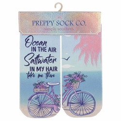 Bike Ocean In the Air Ankle Socks by Simply Southern