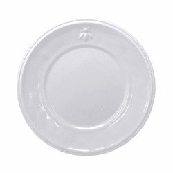 "Bistro Bianco 11"" Dinner Plate with Embossed Bee Design  by Le Cadeaux"
