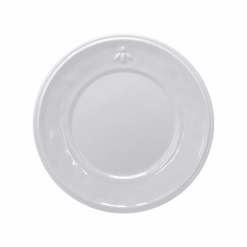 "Bistro Bianco 9"" Salad Plate with Embossed Bee Design  by Le Cadeaux"
