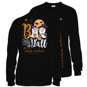 Black Boo Ya'll Long Sleeve Tee by Simply Southern