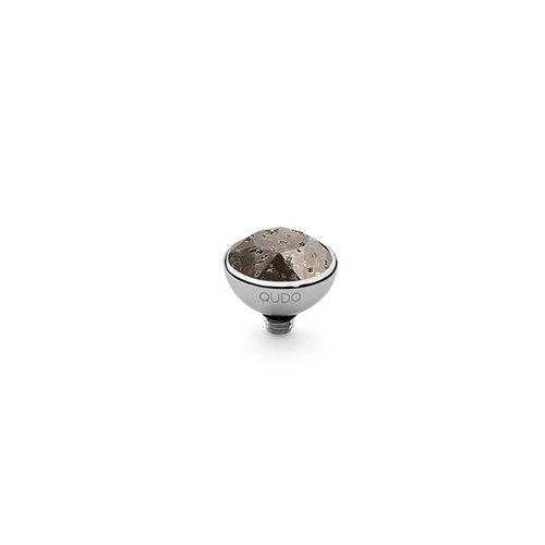 Black Patina 10mm Silver Interchangeable Top by Qudo Jewelry
