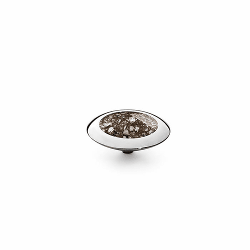 Black Patina 16mm Silver Interchangeable Top by Qudo Jewelry
