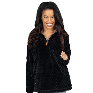 Black Simply Fuzzy Pullover by Simply Southern