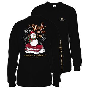 Black Sleigh All Day Long Sleeve Tee by Simply Southern