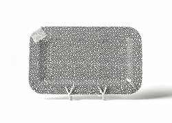 Black Small Dot Entertaining Mini Rectangle Platter by Happy Everything!