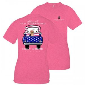 Blessed & Freedom Obsessed Short Sleeve Tee by Simply Southern