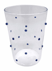Blue Dotty Double Old Fashioned Glass by Mariposa