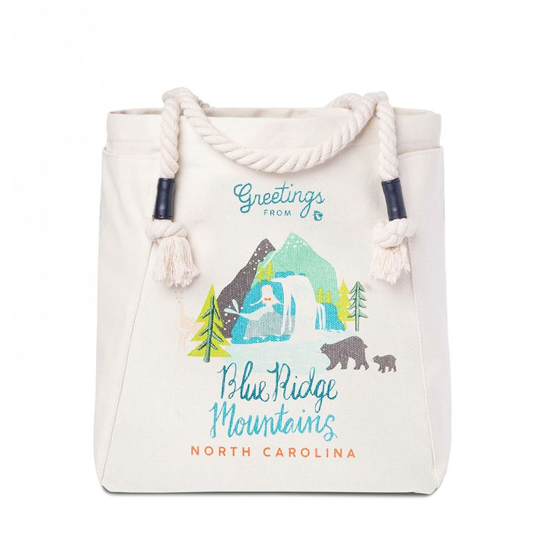 Blue Ridge Mountains Map Canvas Tote By Spartina 449