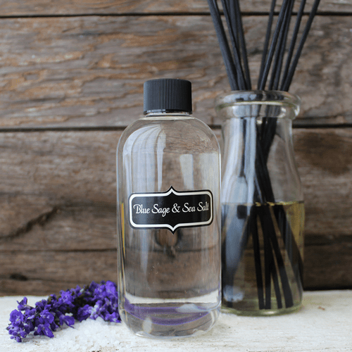Blue Sage & Sea Salt Diffuser Kit by Milkhouse Candle Creamery