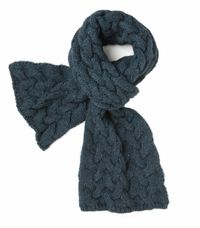 Blue Spruce Cable Knit Scarf by Spartina 449