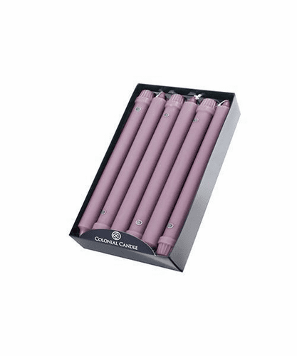 "Blush 10"" Unscented Classic Taper 12-Pack Colonial Candle"