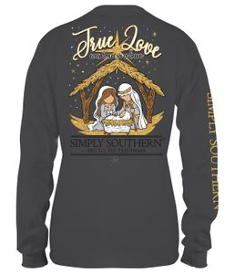 Born in a Barn True Love Long Sleeve Tee by Simply Southern