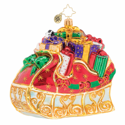 Bountiful Sleigh Ornament by Christopher Radko