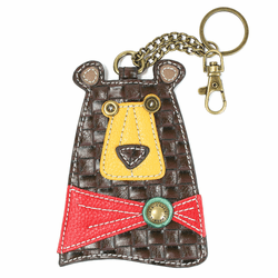 Brown Bear Key Fob and Coin Purse by Chala
