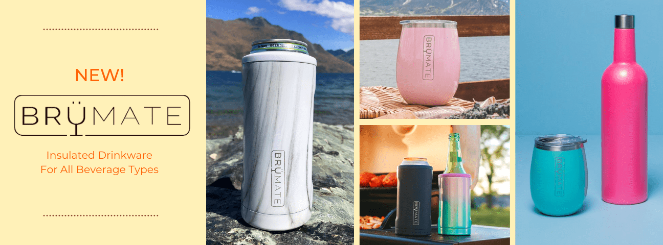 Brumate Insulated Can Coolers, Tumblers and Drinkware