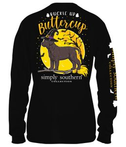Buckle Up Buttercup Long Sleeve Tee by Simply Southern
