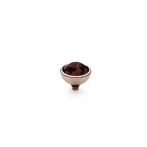 Burgundy 10mm Rose Gold Interchangeable Top by Qudo Jewelry