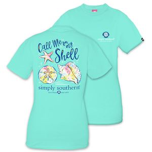 Call Me on My Shell Short Sleeve Tee by Simply Southern