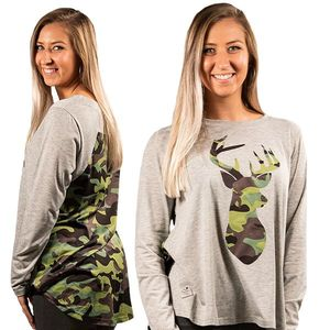 Camo Deer Blouses by Simply Southern